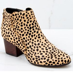Sole Society Cheetah Ankle Bootie : Brand New